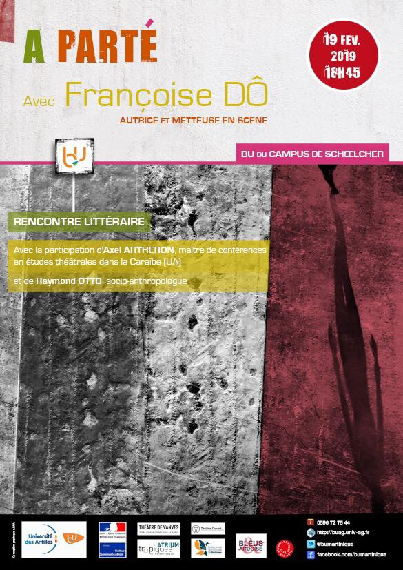 Rencontre littéraire à la Bibliothèque Universitaire du campus de Schoelcher avec Françoise Dô