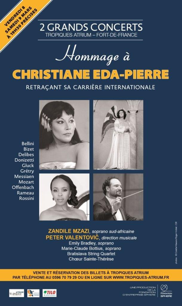 Hommage Christiane Eda-pierre Affiche -Tropiques Atrium