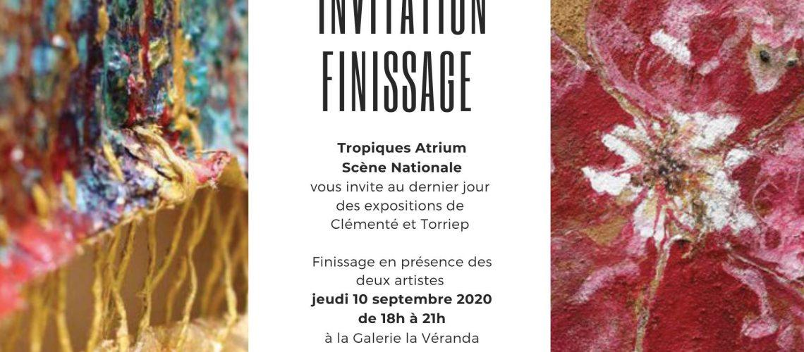 Invitation finissage des expositions Clemente Torriep - Tropiques Atrium